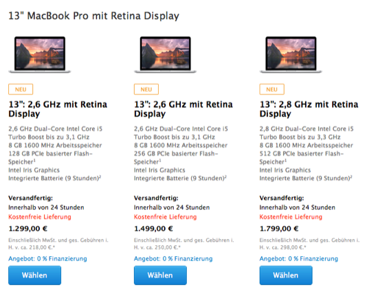 2014 13 Zoll MacBook Retina