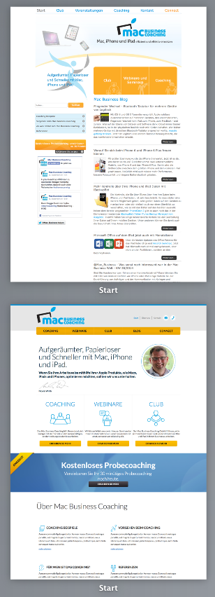 Preview alte und neue Mac Business Coaching Website