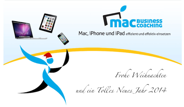 Mac Business Coaching Weihnachtsheader 2013