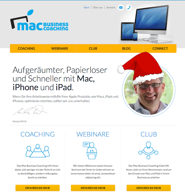 Weinhachtsheader Mac Business Coaching 2014