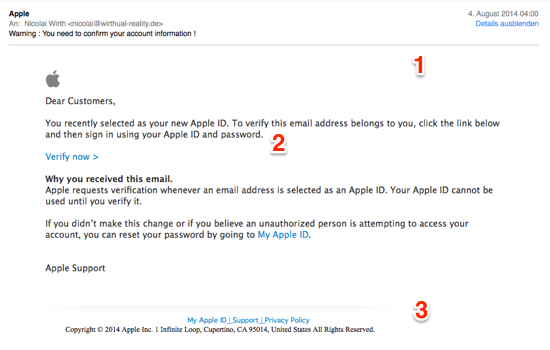 apple id spam mail 1