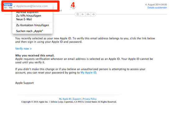 apple id spam mail 2