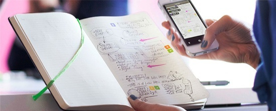 evernote business notebook moleskine