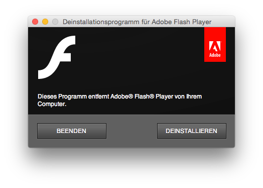 Flash Player deinstallieren