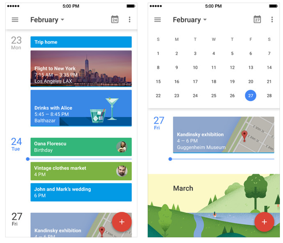google kalender app screenshots