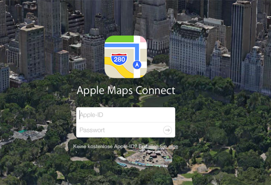 Login Mapsconnect Apple