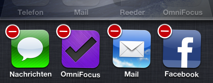 Multitasking Leiste Apps schliessen