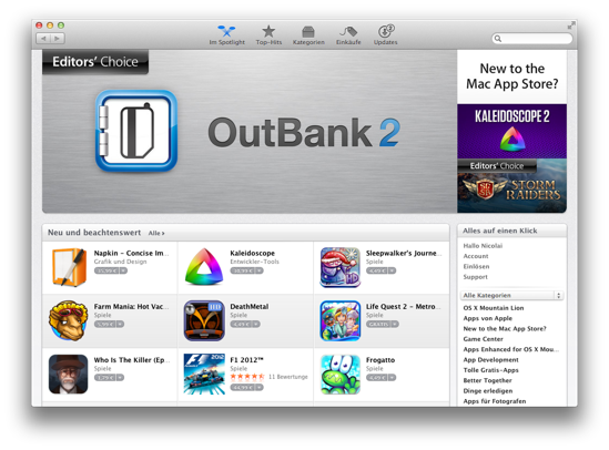Outbank Mac App Store