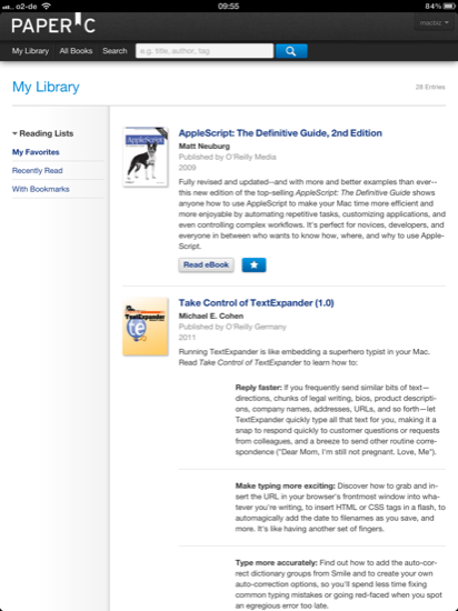 PaperC mylibrary