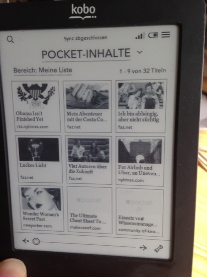Pocket Inhalte in Kobo